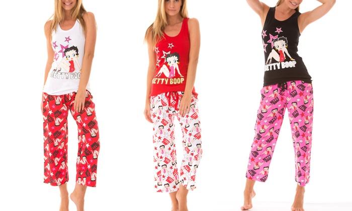 Betty Boop Knit Sleepwear Set: Betty Boop Knit Sleepwear Set. Multiple Colors Available. Free Returns.