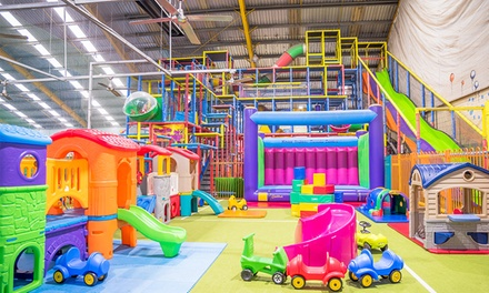 Indoor Play Area Entry: 1 $3, 2 $5.50, 3 $8 or 4 People $9.90 at Slides Playcentre and Cafe Up to $48 Value