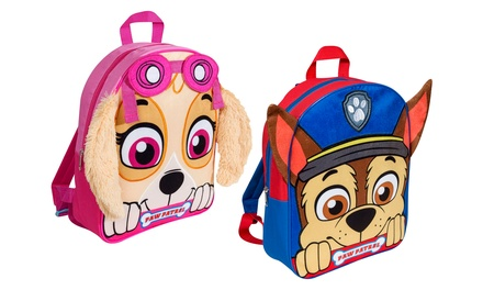 Paw Patrol Embroidered Plush Front Backpack