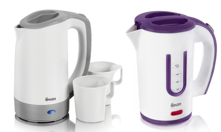 Swan Travel Kettle with Two Cups