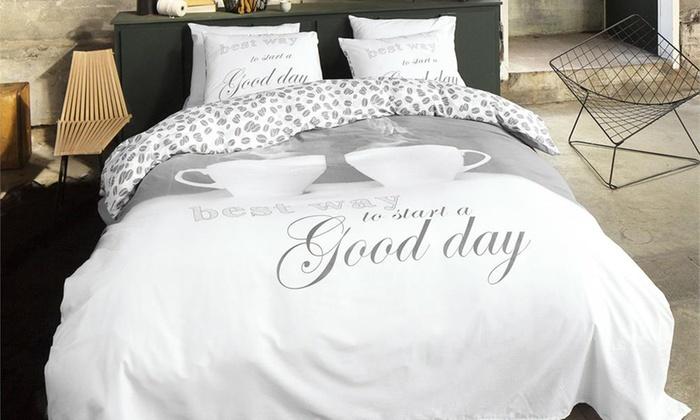 couette de qualit 100 coton groupon. Black Bedroom Furniture Sets. Home Design Ideas