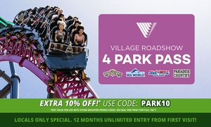 Village Roadshow Theme Parks: Locals Special: $139 Unlimited Entry to Warner Bros. Movie World, Sea World, Wet'n'Wild Gold Coast + Paradise Country