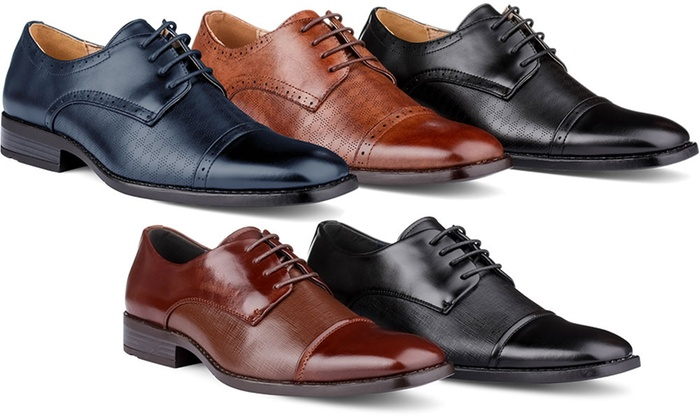 Signature Men s Cap Toe Derby Dress Shoes. Signature Men s Derby Shoes 33904080f00