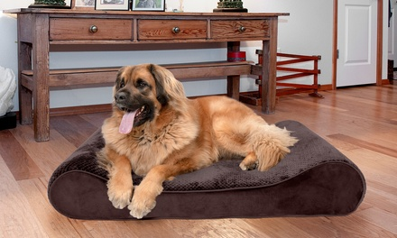 Furhaven Minky Plush Foam-Core Contour Dog Bed. Multiple Options