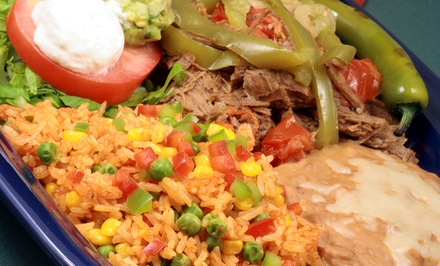 Mexican Dinner with Appetizer, Entrees, and Margaritas for Two or Four at El Pueblito (Up to55% Off)