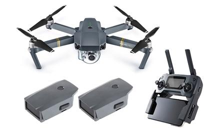 DJI Mavic Pro Drone with Gimbal-Mounted 4K Camera, WiFi, and Optional Backup Battery