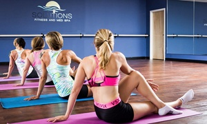 Solutions Fitness and Med Spa: 5 or 10 Fitness Classes or One Month of Unlimited Yoga Classes at Solutions Fitness and Med Spa (Up to 70% Off)