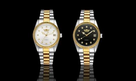 1 o 2 orologi Klaus Winner Sport Master donna con cristalli di Swarovski® disponibili in 2 colori