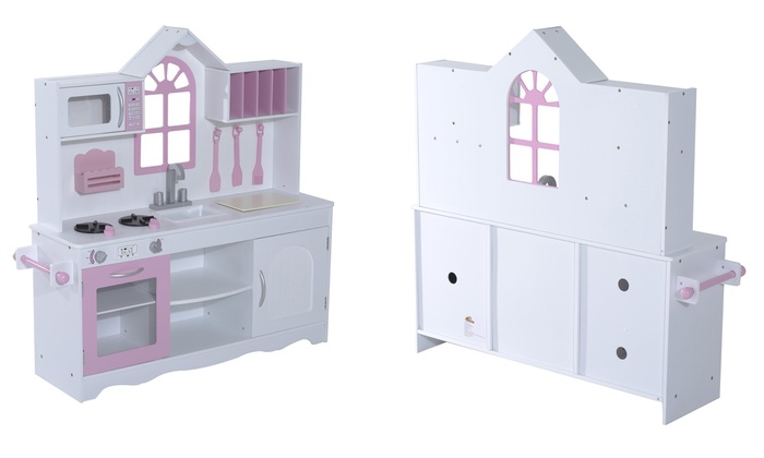 Groupon Goods: Wooden Play Kitchen and Utensils for Kids (Shipping Included)