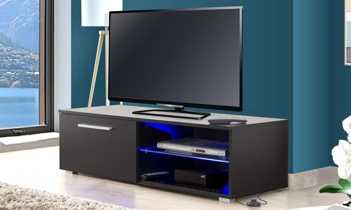meuble tv led ohio groupon. Black Bedroom Furniture Sets. Home Design Ideas