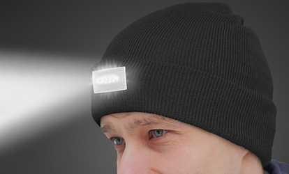 Shop Groupon LED Unisex Headlamp Beanies (2-Pack) 2751bdcc05c0