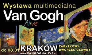Makroconcert: Od 74,90 zł: bilety dla 2-5 osób na wystawę Van Gogh Alive – The Experience (do -32%)