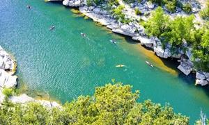 Patou Bateau: Descente de l'Ardèche en canoë parcours de 8, 24 ou 32 km pour 2 personnes dès 34,90 € avec Patou Bateau