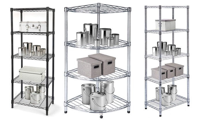 Chrome Steel Wire Shelving Units With Adjustable Shelves: Chrome Steel Wire  Shelving Units ...
