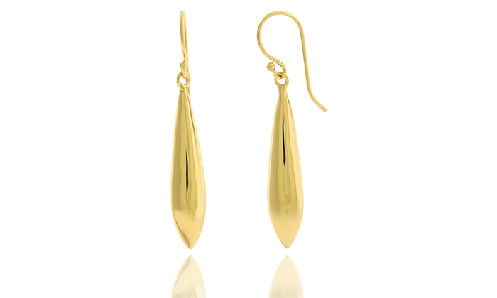 Teardrop Dangle Earrings In 14k Gold