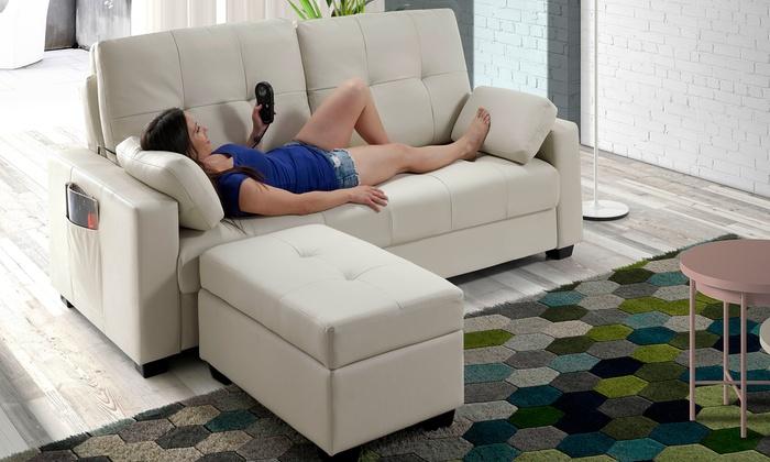 canap lit massant eco de groupon. Black Bedroom Furniture Sets. Home Design Ideas