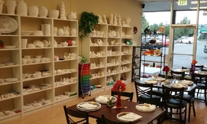 $8 for $15 Worth of Paint Your Own Ceramics