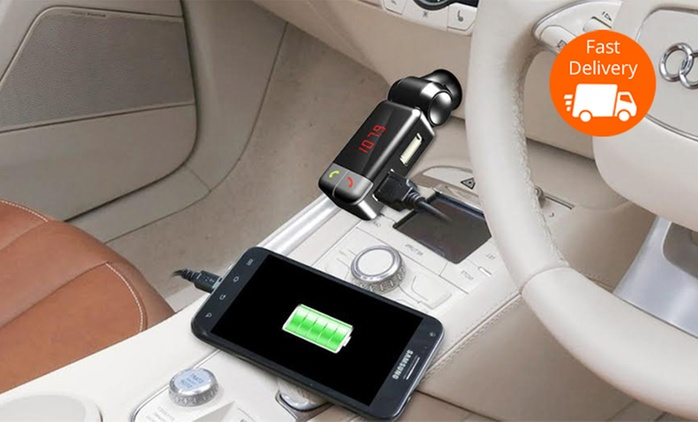 $25 Smart Bluetooth Car Kit with Dual USB Port Charger and FM Transmitter (Don't Pay $54)
