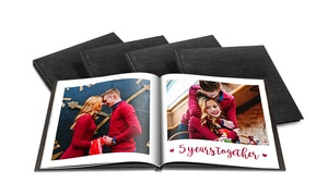 Custom 40-Page Luxury Leather Photo Books from Printerpix