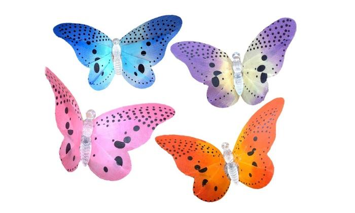 jusqu 39 43 luminaires fibre optique papillon groupon. Black Bedroom Furniture Sets. Home Design Ideas