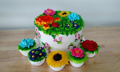 image for DIY Cupcake or Cake Decorating for Two at My Make Studio (Up to 35% Off)