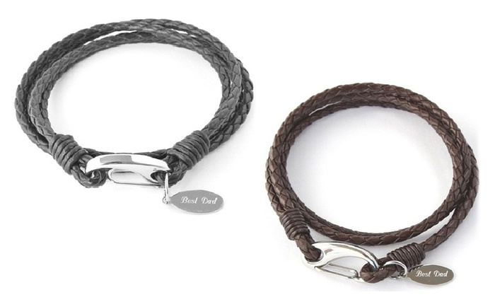 Groupon Goods Global GmbH: One or Two Best Dad Charm Bracelets
