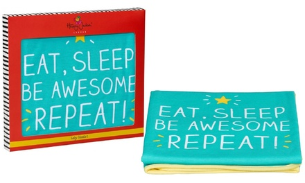 Eat Sleep Be Awesome Baby Blanket
