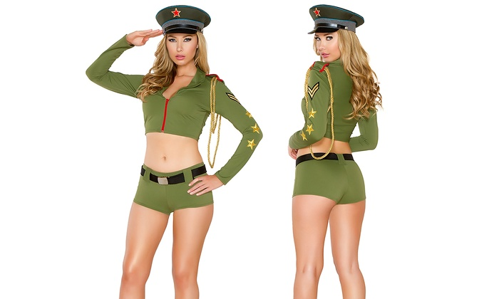 Yandy's Women's Sexy Army Babe Costume