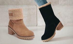 (Mode)  Boots fourrés ajustables  -47% réduction
