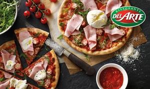 Del Arte Epinal: Pizza, pâte ou risotto au choix avec dessert au choix pour 2 ou 4 personnes dès 24,90 € au restaurant Del Arte Epinal