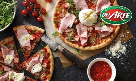 Plat au choix entre pizza, pâtes et risottos et dessert pour 2 ou 4 personnes dès 19,90 € au restaurant Del Arte Dole
