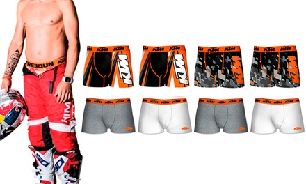 Eight-Pack of KTM Men's Microfibre or Cotton Boxers