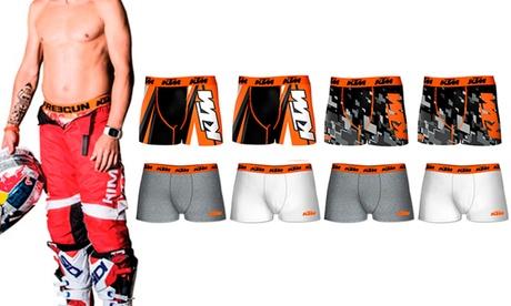 Pack de 8 boxers KTM para hombre de microfibra o algodón