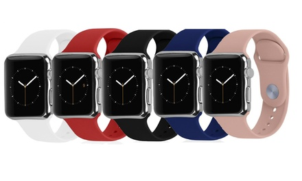One, Two, or Five Rubik Silicone Bands for Apple Watch from AED 79
