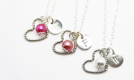 One or Two Personalized Charm Necklaces or Bangles from KraftyChix (Up to 75% Off)