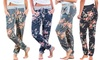 Casual bloemen-joggingbroek