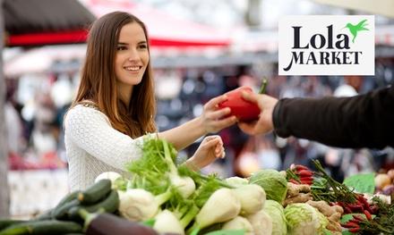 Paga 0 € por un bono de 20 € para comprar en supermercados con Lola Market