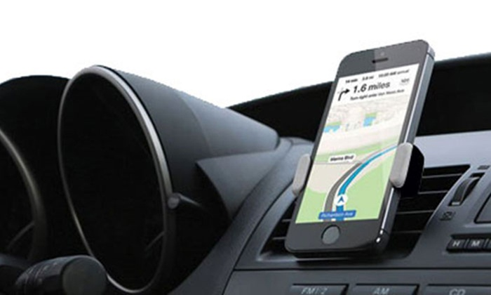 One or Two Universal Adjustable Car Smartphone Holders from £5.99