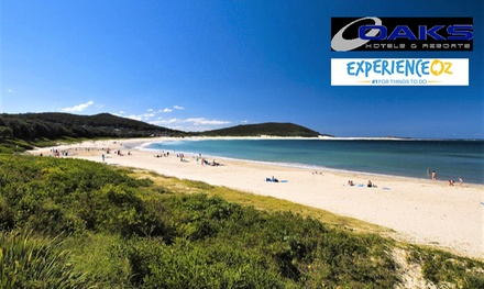 Nelson Bay: 3- or 5-Night Getaway for Two or Four People with Wine and Late Check-Out at Oaks Lure Port Stephens