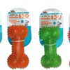 ASPCA Scented TPR Squeaky Spiked Bone Dog Toys (4-Pack)