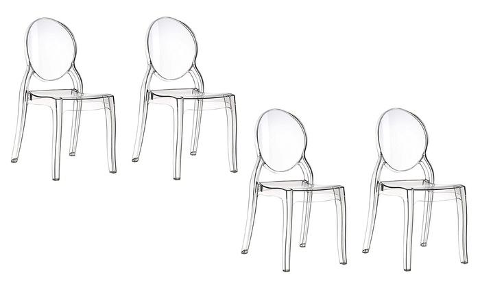 Set 4 sedie in policarbonato groupon for Groupon shopping arredamento