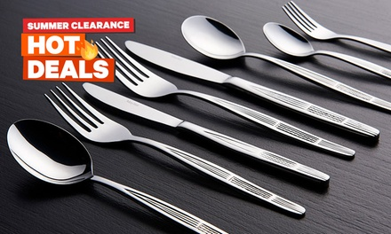 $37 for a Mayfair Home Designer 100-Piece Stainless Steel Cutlery Set