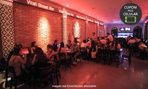 Wall Street Bar: Wall Street Bar - Jardim Europa: 3 opções de crédito para consumo do menu/bebida