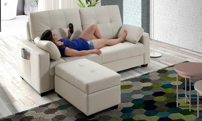 Divano letto con massaggio e penisola groupon goods for Groupon divano letto