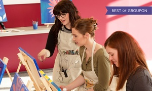 Arts & Carafes Studio: Social Painting Session for One, Two, or Four from Arts & Carafes Studio (Up to 31% Off)