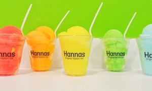 Hanna's Original Italian Ice: Three or Five Groupons, Each Good for One Italian Ice at Hanna's Original Italian Ice (43% Off)