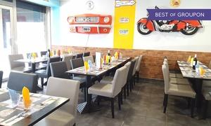 Chez Max Sophia: 2 burgers et 2 cafés gourmands pour 2 pers. le midi ou le soir en semaine dès 22,50 € au restaurant Chez Max à Sophia