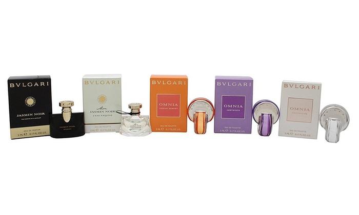 Bvlgari Womens Mini Trial Size Fragrance Gift Set 5 Piece Groupon