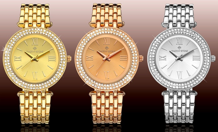 Timothy Stone Watches with Crystals from Swarovski® for €24.99 With Free Delivery (83% Off)