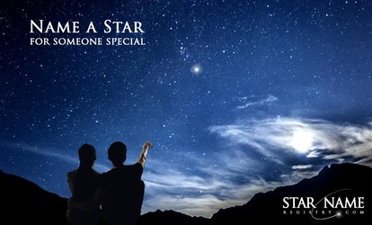 image for Name an Extra Bright Star Package with Delivery from Star Name Registry (48% Off)